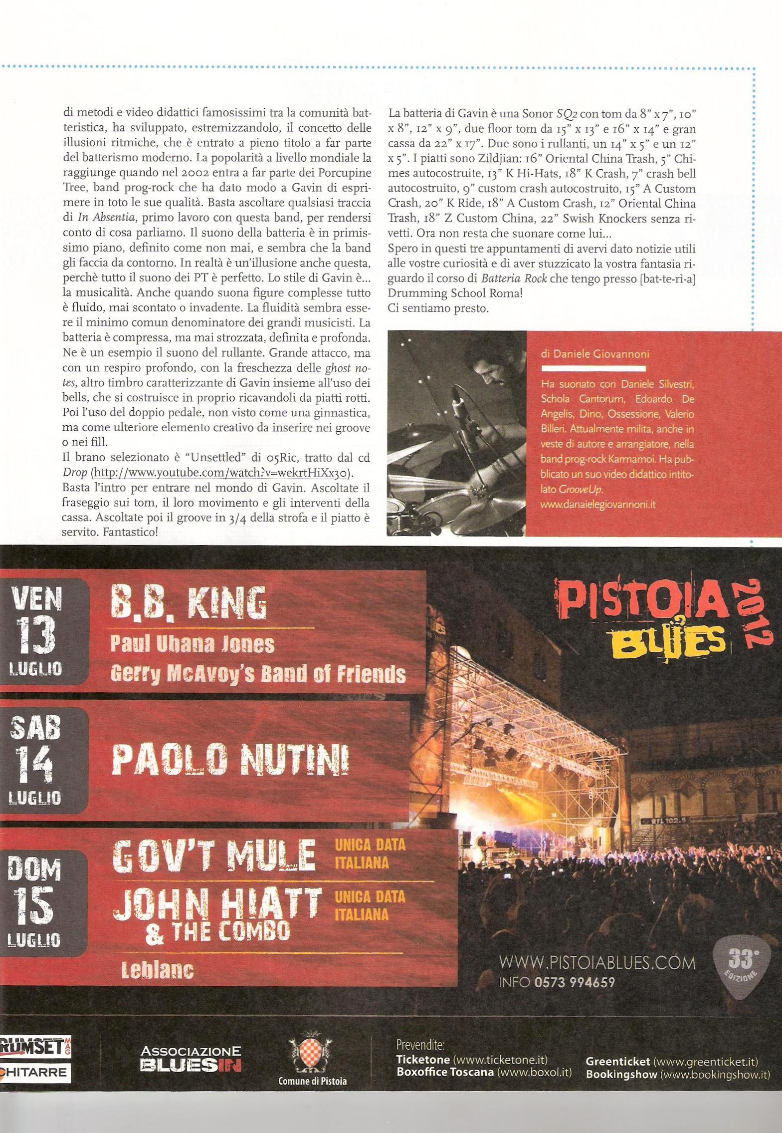 articolo-drumsetmag-luglio-agosto-2012